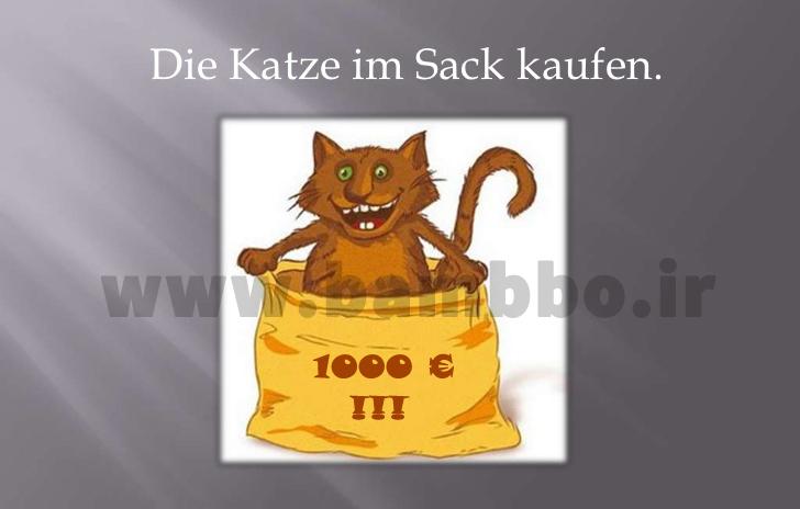 ضرب المثل آلمانی- german idiom- بامبو دات آی آر