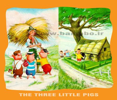 داستان انگلیسی سه بچه خوک با معنی|بامبو