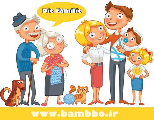 اسامی اعضای خانواده به آلمانی| بامبو